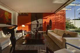 Orange Accessories Living Room Orange And Brown Living Room Home Design Ideas
