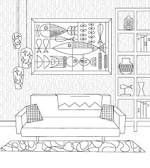 living with add book. just add color: mid-century modern mania coloring book includes 30 original designs from artist and illustrator jenn ski. living with l