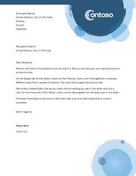 Letterhead Letter Blue Spheres Letterhead