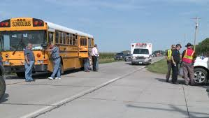 School Bus carrying students rear-ends pickup truck near Columbus