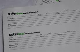 Pet Information Sheet Small Medical Detail Forms 60 Pk