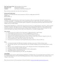 Financial Analyst Job Description Resume Cover Letter For Financial Management Graduate Accounting Finance 53