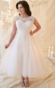 plus size wedding dresses with sleeves tea length affordable plus figure wedding gowns cheap large size bridals