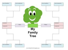 Family Tree Template Family Tree Templates To Print