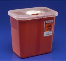sharp disposal. amazon.com: kendall 8970 sharps disposal biohazard waste container with rotor lid, 2 gallon capacity, 10.5\ sharp