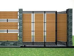 metal fence designs. Modern Metal Fence Ideas Inspiring Design  For Minimalist House Wood . Designs C