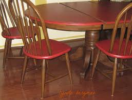 painted red furniture. PAINTING RED \u0026 BROWN DISTRESSED TABLE CHAIRS FOR ROBIN\u0027S LAKE HOUSE Painted Red Furniture