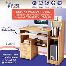 deluxe wooden home office. Image Is Loading NATURAL-OAK-Wooden-Desk-Table-Deluxe-Home-Office- Deluxe Wooden Home Office EBay