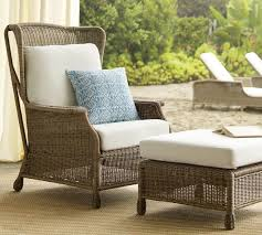 Saybrook All Weather Wicker Wingback Armchair