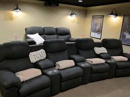 Home Theater Wall Lighting Fixtures Barn Wall Sconces Add Dramatic Glow To Familys Home Theater