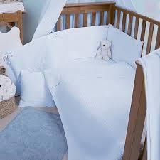 clair de lune cot bed quilt per set waffle blue