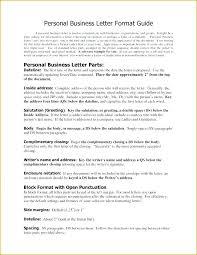 Proper Letter Format Business Example Proper Business Letter Format