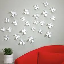 umbra wallflower wall decor white set: umbra wallflower wall decor white wall flowers