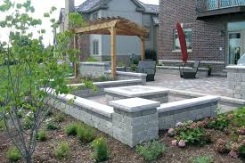 concrete patios with fire pits creative stamped concrete patio with