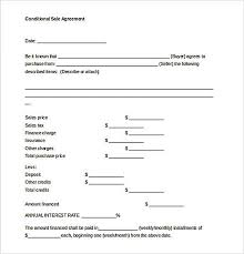 Free Sales Agreement Template Sample Conditional Sales Agreement Temptae Reliable Sales 23