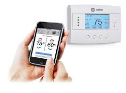 Remote Thermostat Control From Phone. HVAC remote comfort system, Trane,  Schlage LiNK