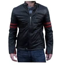 details about new men red patch leather biker jacket italian zara er jacket coat designer