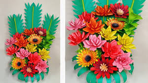 Paper Flower Bouquet Tutorial How To Make Beautiful Paper Flower Bouquet Tutorial Paper Craft Jarines Crafty Creation