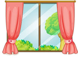 school window clipart. Curtain Clipart School Window Pencil And In Color D