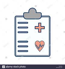 Illustration Medical Chart Icon Stock Photo 241496217 Alamy
