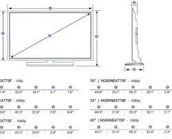 43 Tv Dimensions Dylanpaper Co