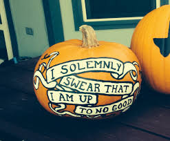 harry potter painted pumpkin i solemnly swear that i am up to no good