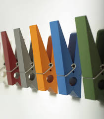 Large Size Wonderful Colorful Clothespin Wall Mounted Coat Hooks Provides A  Convenient And