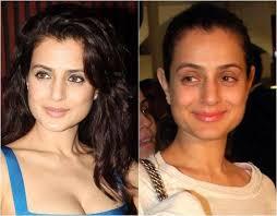 indian actress before after makeup images