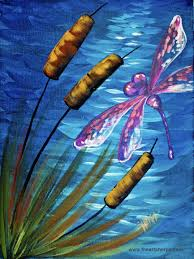 dragonfly pond easy beginner acrylic painting tutorial artsherpa trysomething acrylicpainting learn to paint acrylics for beginners a dragonfly and a