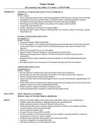 Resume Purchasing Procurement Executive Resume Samples Resume Templates