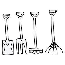 gardening tools cartoon images