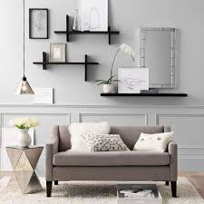 Living Room Shelves Decorating How To Decorate A Living Room Wall 1000 Ideas About Wall Shelves
