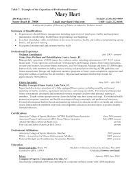 Sample Of Professional Resume With Experience Tomyumtumweb Com