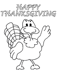 Happy Thanksgiving Turkey Coloring Page Book For Kids