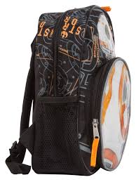 Bb8 Light Up Backpack Bb 8 Black Star Wars 16 Inch Light Up Backpack Accessory