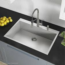 stainless steel drop in sink. Delighful Stainless ZeroRadius 33Inch Handmade Topmount Single Bowl 16 Gauge Stainless Steel  Drop With Drop In Sink U
