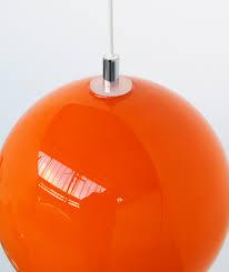 orange glass lamp shade retro 1960 s