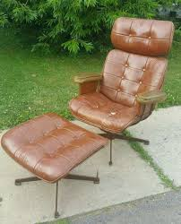 mid century modern homecrest brown wire lounge arm chair w ottoman eames style