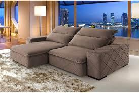 sofa retratil. sof 3 lugares retrtil e reclinvel fenix sofa retratil