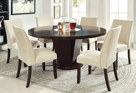 home and furniture traditional round dining table with lazy susan in orbit solid oak or