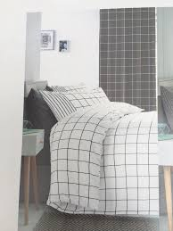 2 x next single bed sets white black check includes duvet cover matching pillowcase