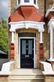 london colonial front doors with victorian stained gl panels entry and porch black door