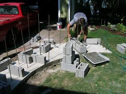 making cinder block fireplace design idea and decors cinder with regard to building outdoor