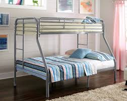 metal bunk bed twin over full. Twin Over Full Silver Metal Bunk Bed