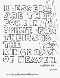 Small Picture Coloring Pages for Kids by Mr Adron Matthew 53 Blessed Are The