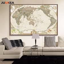 World Map Home Decor World Map Wall Canvas Promotion Shop For Promotional World Map