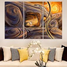 best-selling Multicolored wall High Q. Home Decoration Abstract Oil  Painting print on canvas 3pcs/set