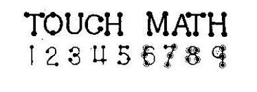 Math Touch Points Chart Mathematics Touch Math Maybe I Have A Teaching Disability