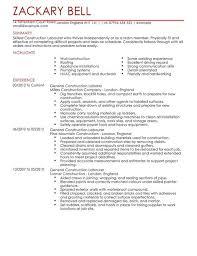 Construction Resume Templates Custom Construction CV Templates CV Samples Examples