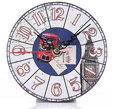 sunshine creative vintage pattern round wall clock fashion wall decoration desk clock 31